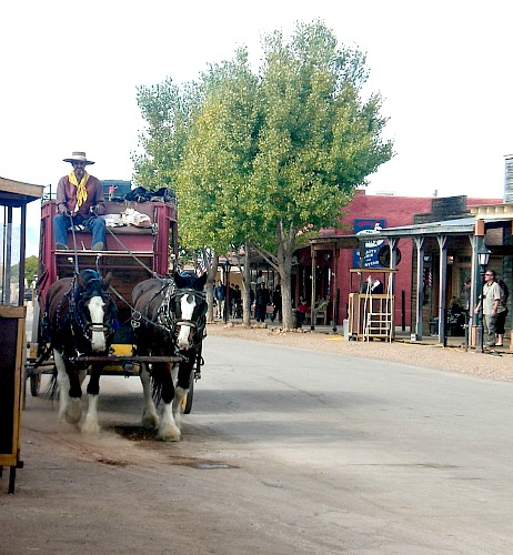 Tombstone stagecoach - Carol Cox