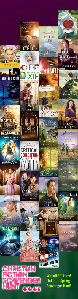 2014 Christian Fiction Scavenger Hunt prizes - Carol Cox